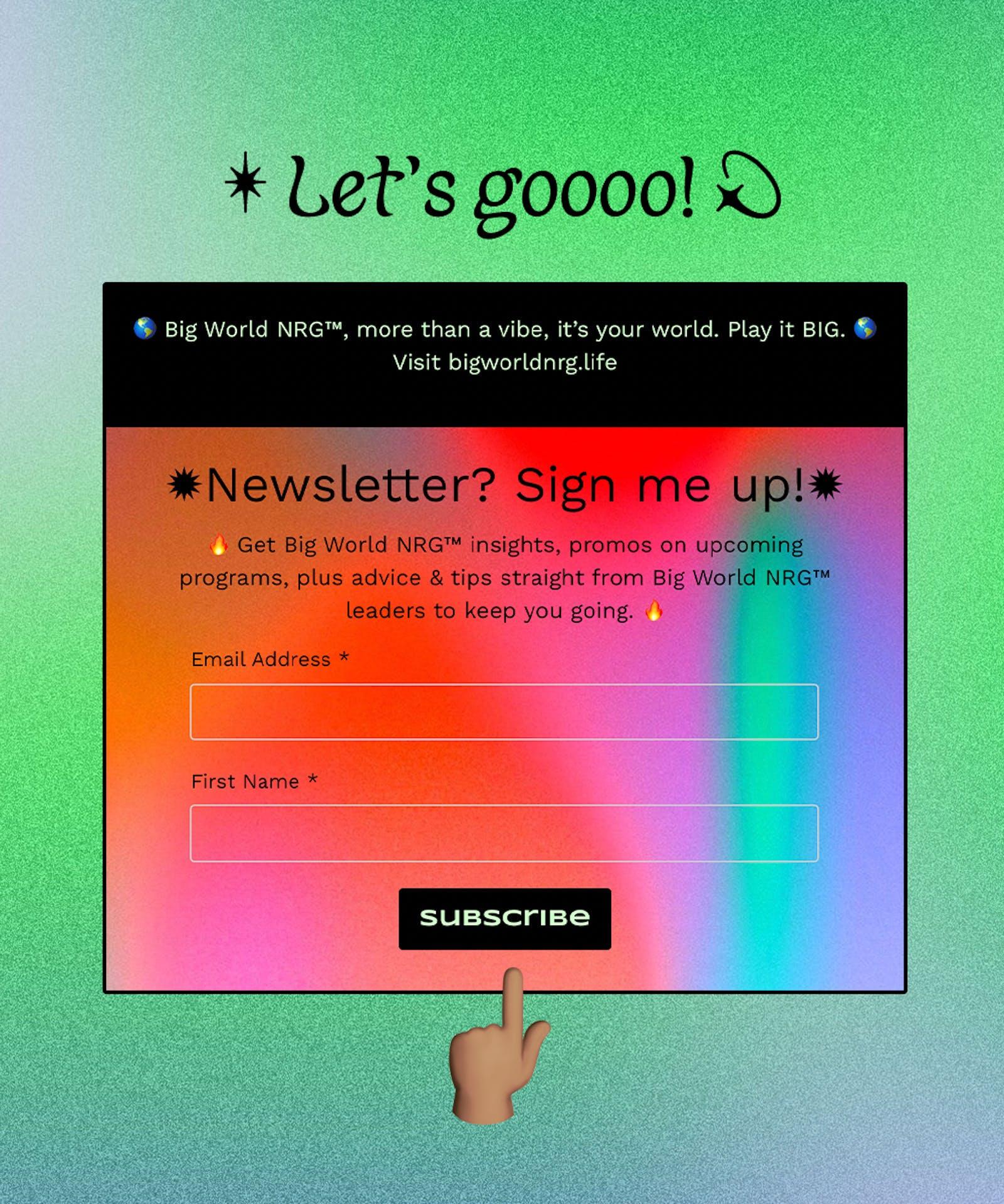 ❤️🔥Big World NRG Waitlist Sign Up ❤️🔥
