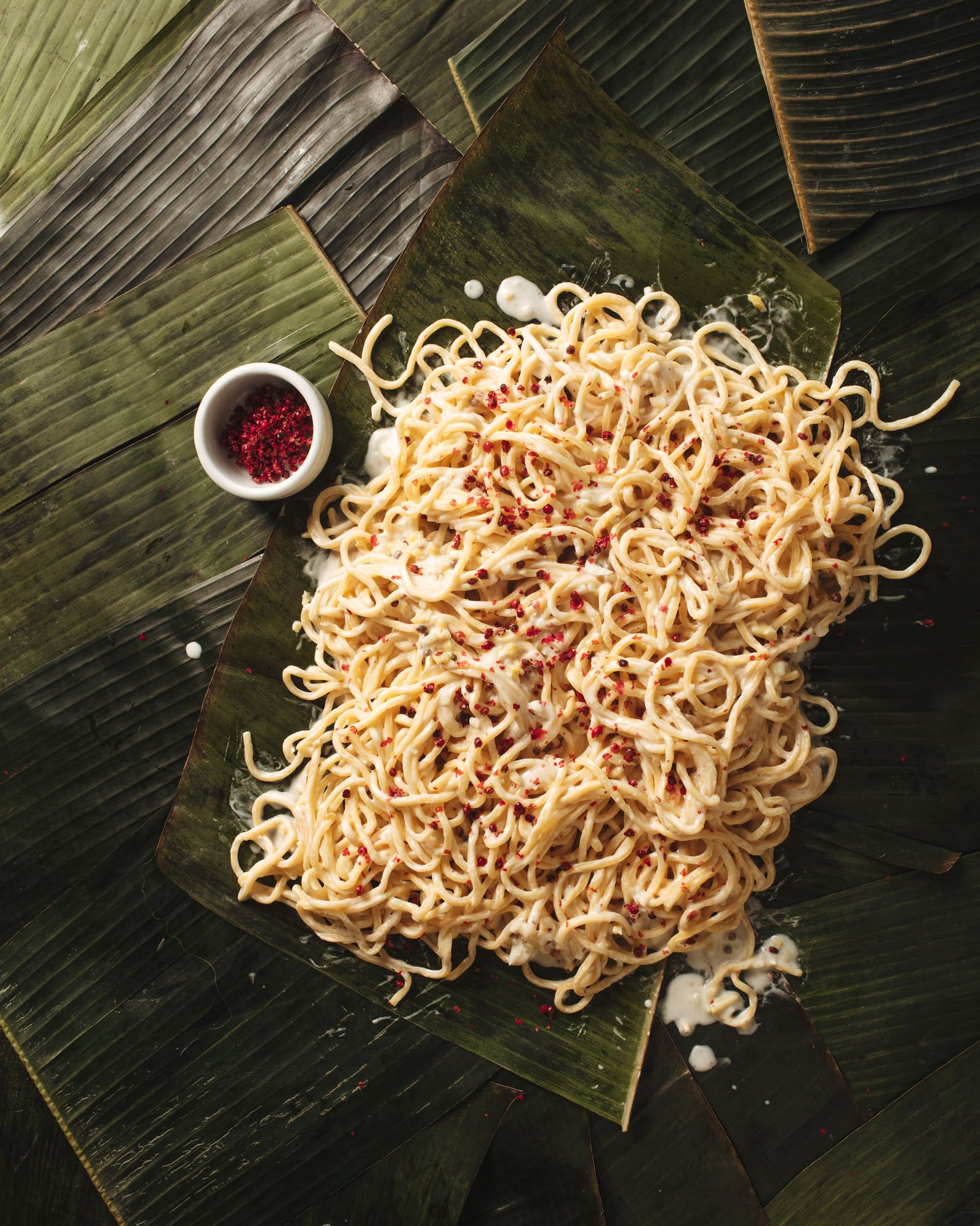 The Kitchn - Ginataan Pancit Canton Noodles with Miso and Pink Peppercorns