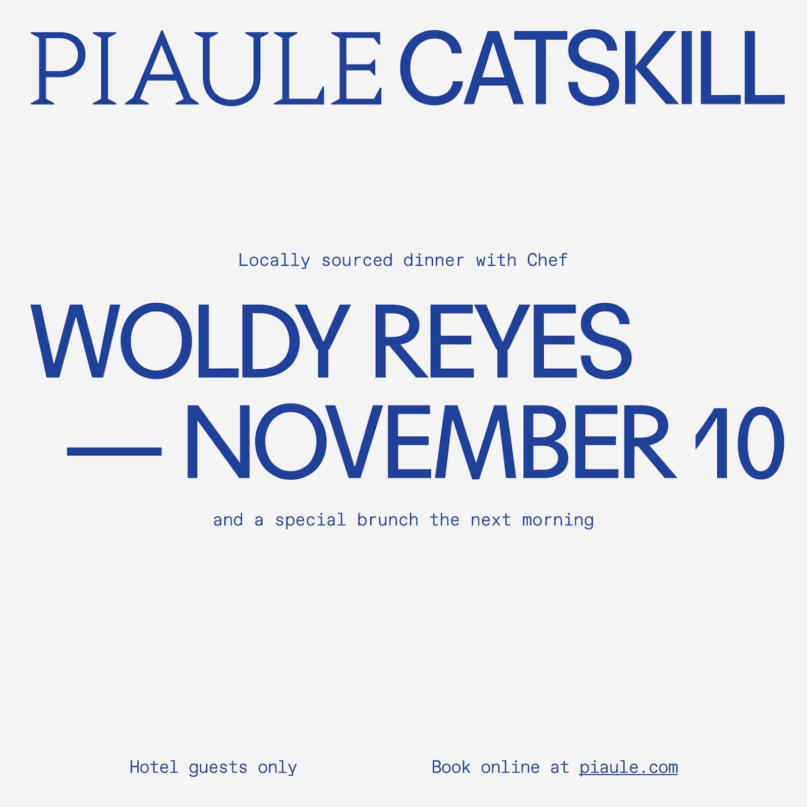 Chef Woldy Reyes at Piaule Catskill