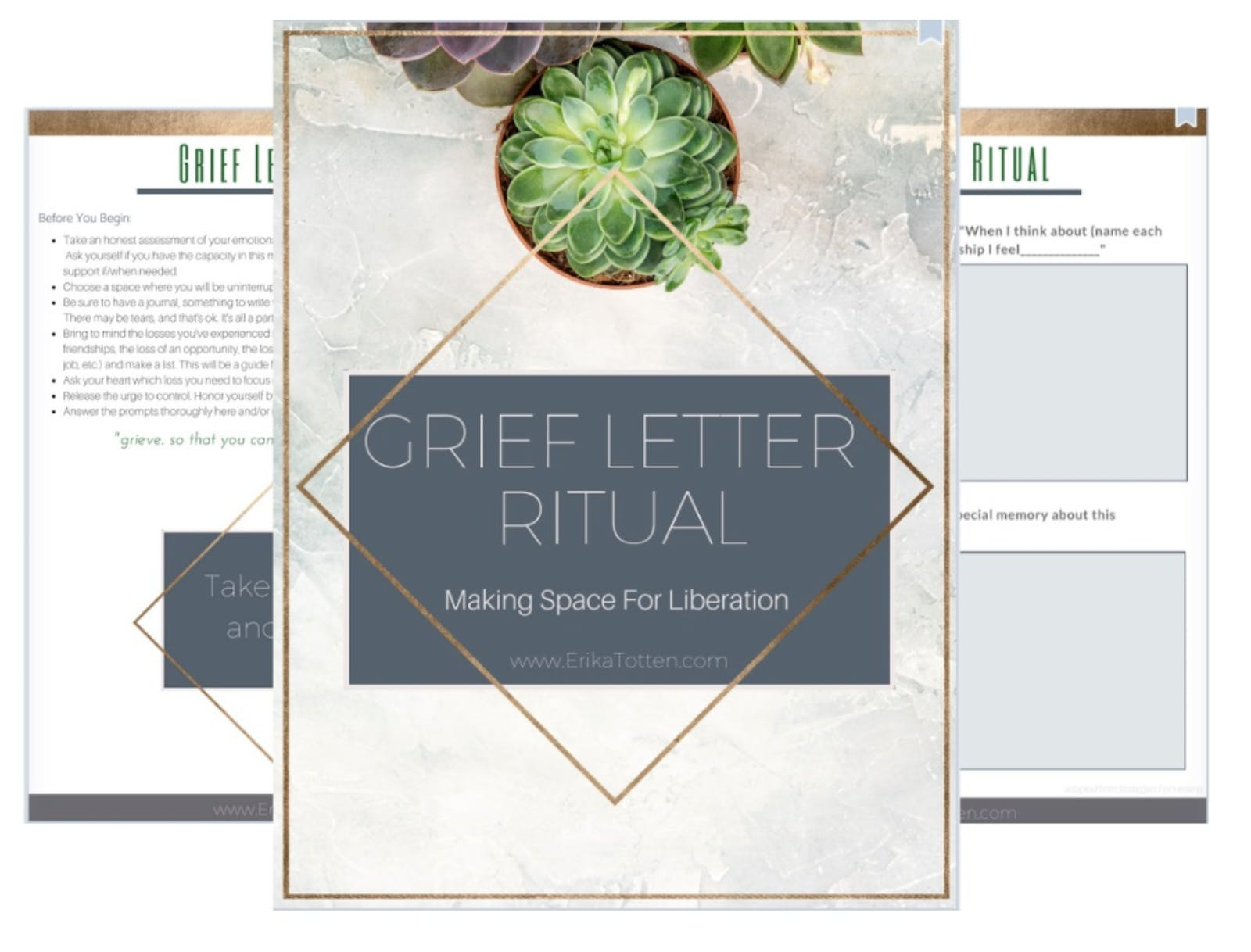 Grief Letter Ritual Template