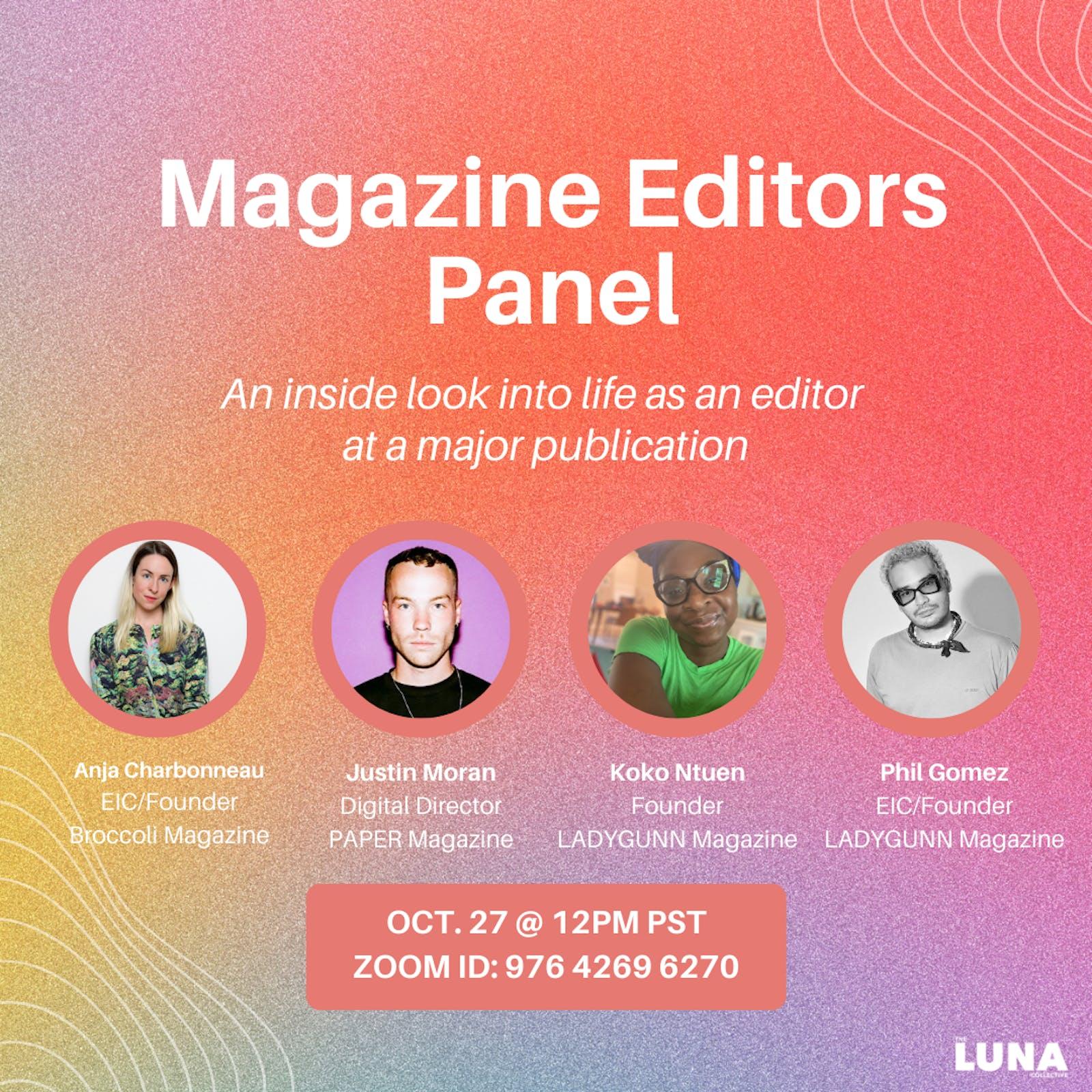 Magazine Editors Panel